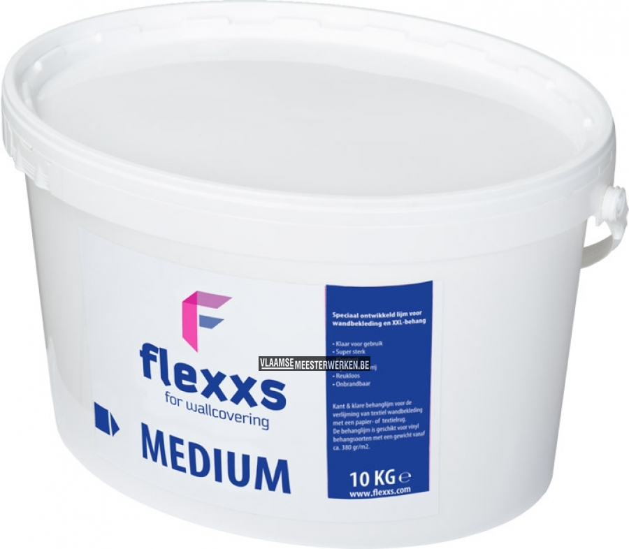 Behanglijm Flexxs medium, 10 liter | Vlaamse Meesterwerken